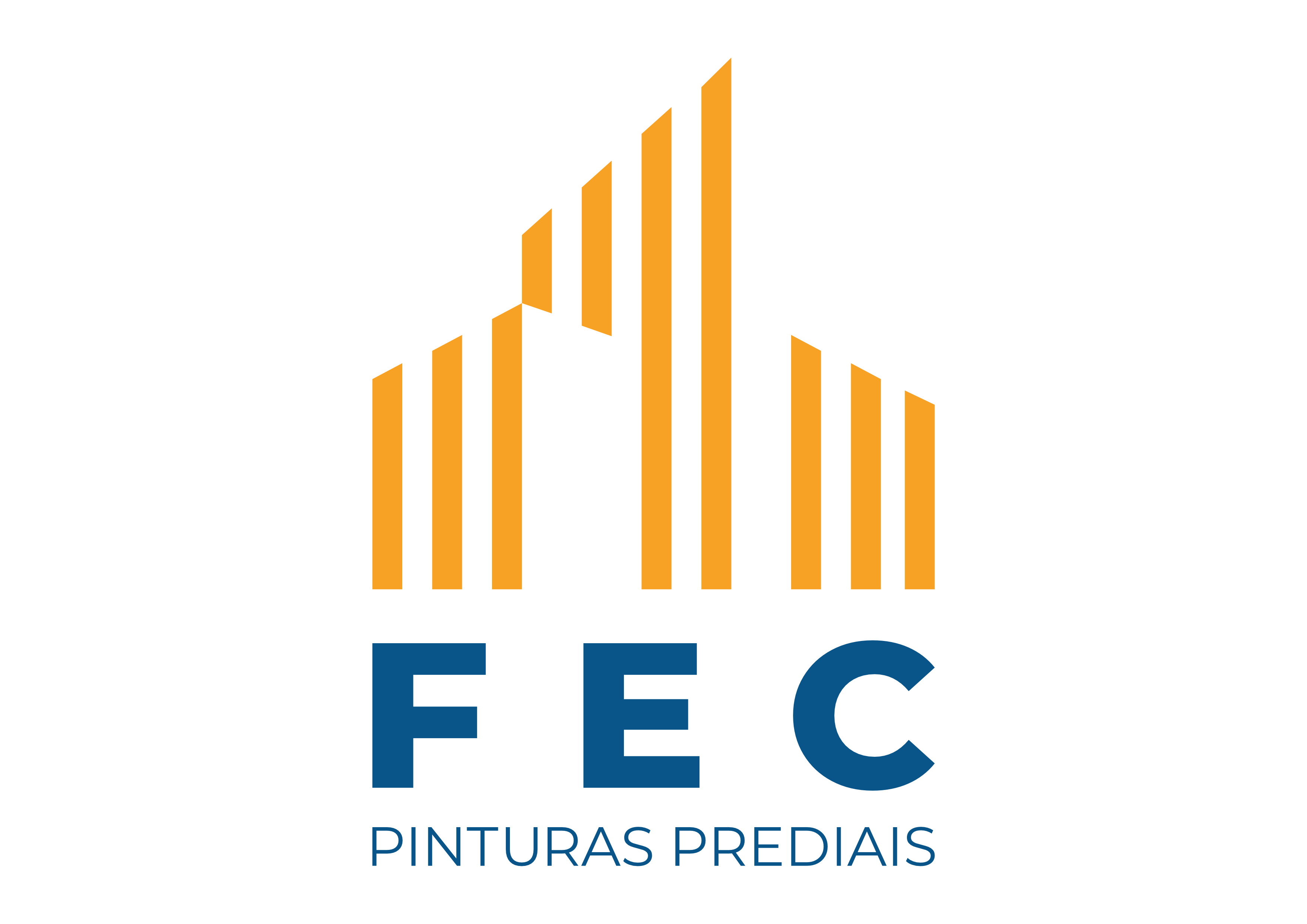 Pintura em Edificações Comerciais na Vila Linda - Pintura para Fachadas de Edifícios Altos - FEC Pinturas