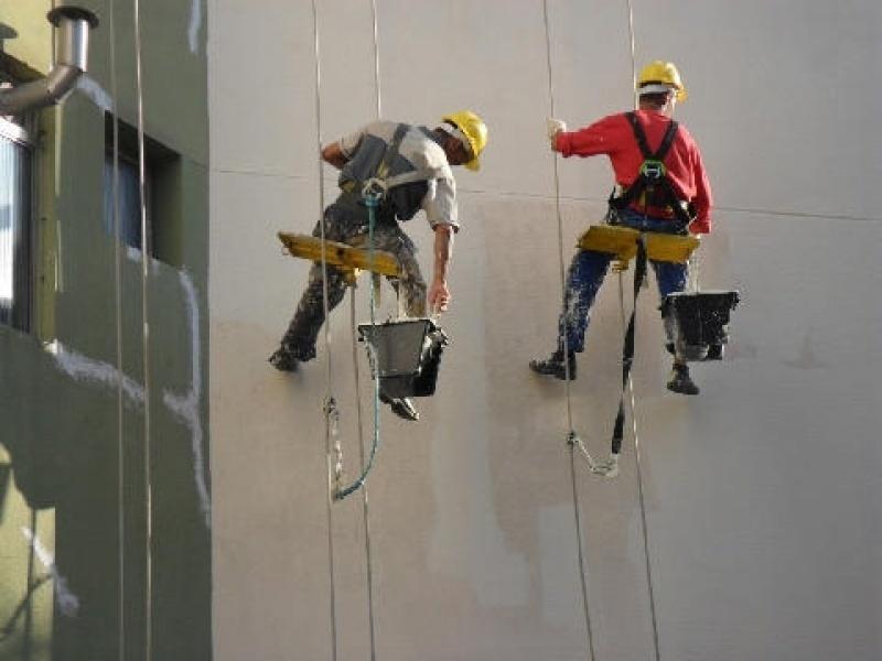 Pintura de Fachada de Prédio Comercial no Jardim Milena - Pintura Exteriores para Edifícios