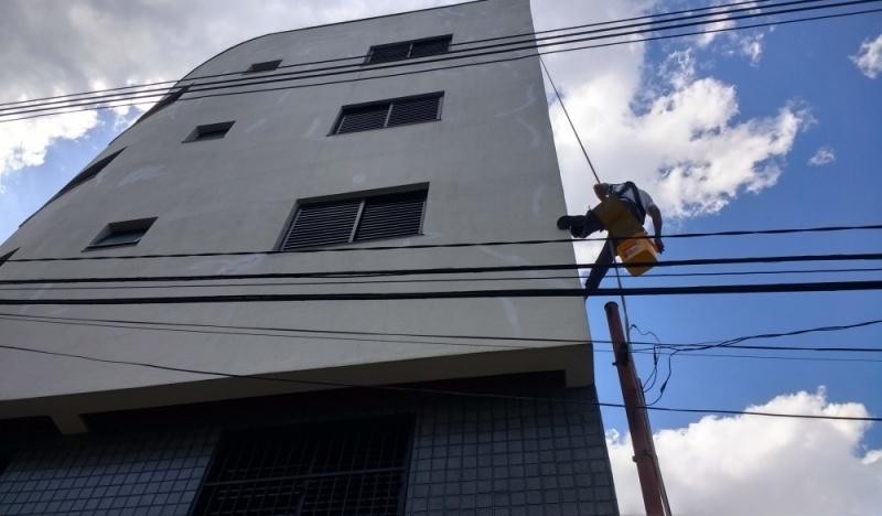 Pinturas de Fachadas para Edifícios Comerciais na Bairro Silveira - Pintura Rápida em Edifícios